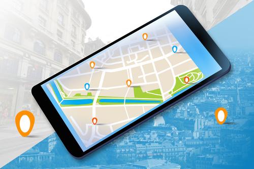 Mobilna nawigacja GPS na tablecie.